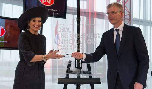 Queen Máxima opens Lely's 'Greenest Innovation Campus'